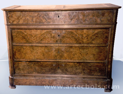 commode en ronce de noyer