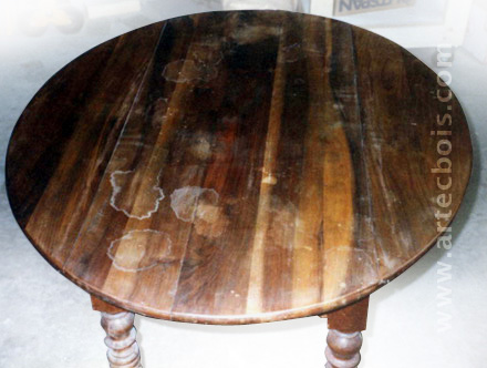 table ronde avant restauration