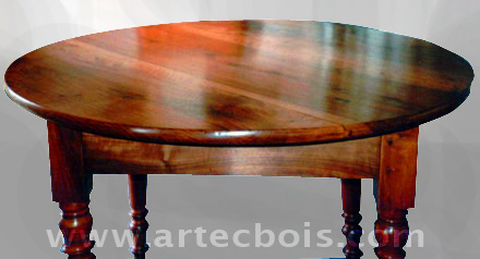 restauration d'une table ronde